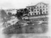 1957-59 гг. Вид из окна дома №35 по Печорскому пр. на площадь Победы. Фото из архива Байковой Альбины Афанасьевны.