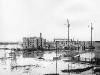 Наводнение, конец Печорского пр., строится дом №79 (10.05.1979 г.)