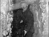 С.М. Терентьев у входа в землянку (60-е годы)