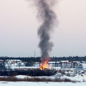 Пожар на базе ЗАО «ВиД»