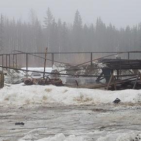 Пожар на Кыртаеле в Печорском районе