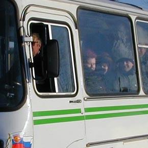 В НИБ – автобусом