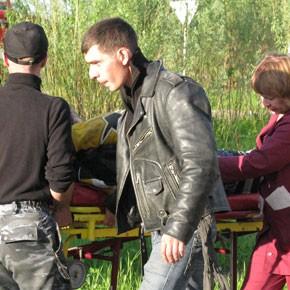 Водитель мотоцикла госпитализирован