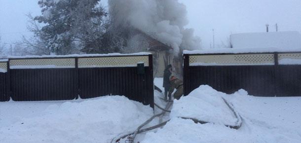 7 января, утром, в Печоре сгорел частный жилой дом