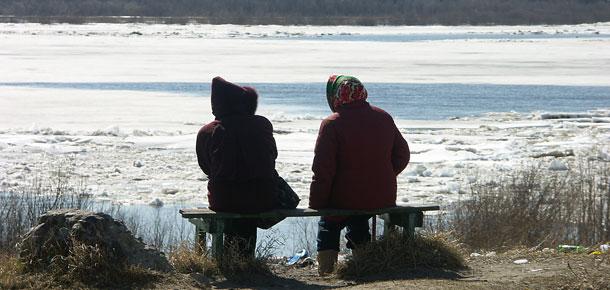 Ждем ледохода в Печоре