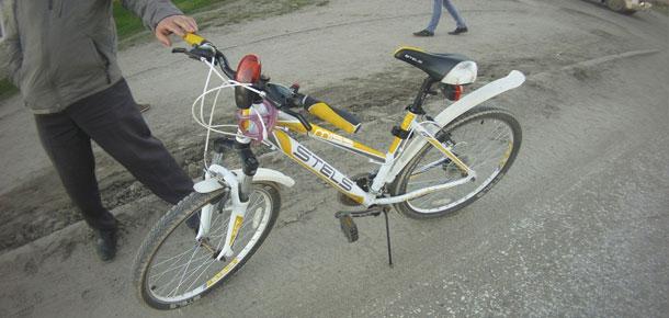 Пострадала велосипедист