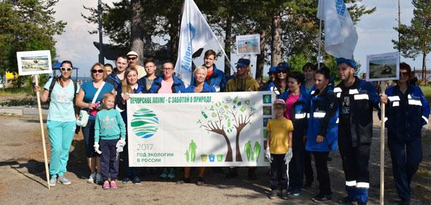 21 июля в Печоре прошла массовая экологическая акция «Речная лента»