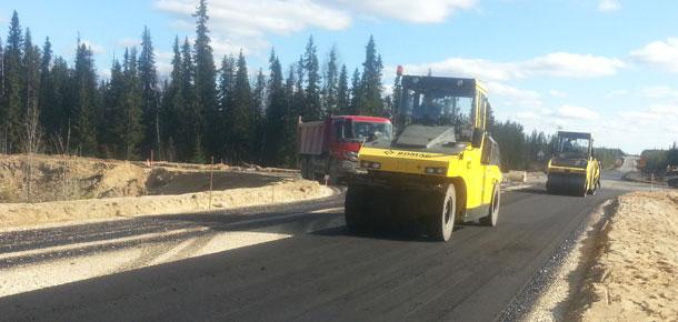Продолжаются работы по реконструкции автодороги «Сыктывкар – Ухта – Печора – Усинск – Нарьян-Мар»