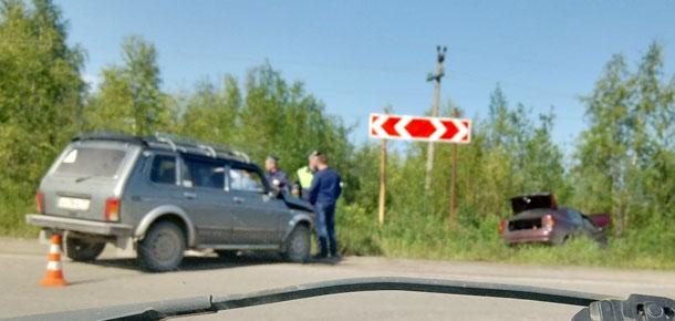 В Печоре столкнулись два автомобиля