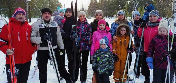Вышли на лыжню